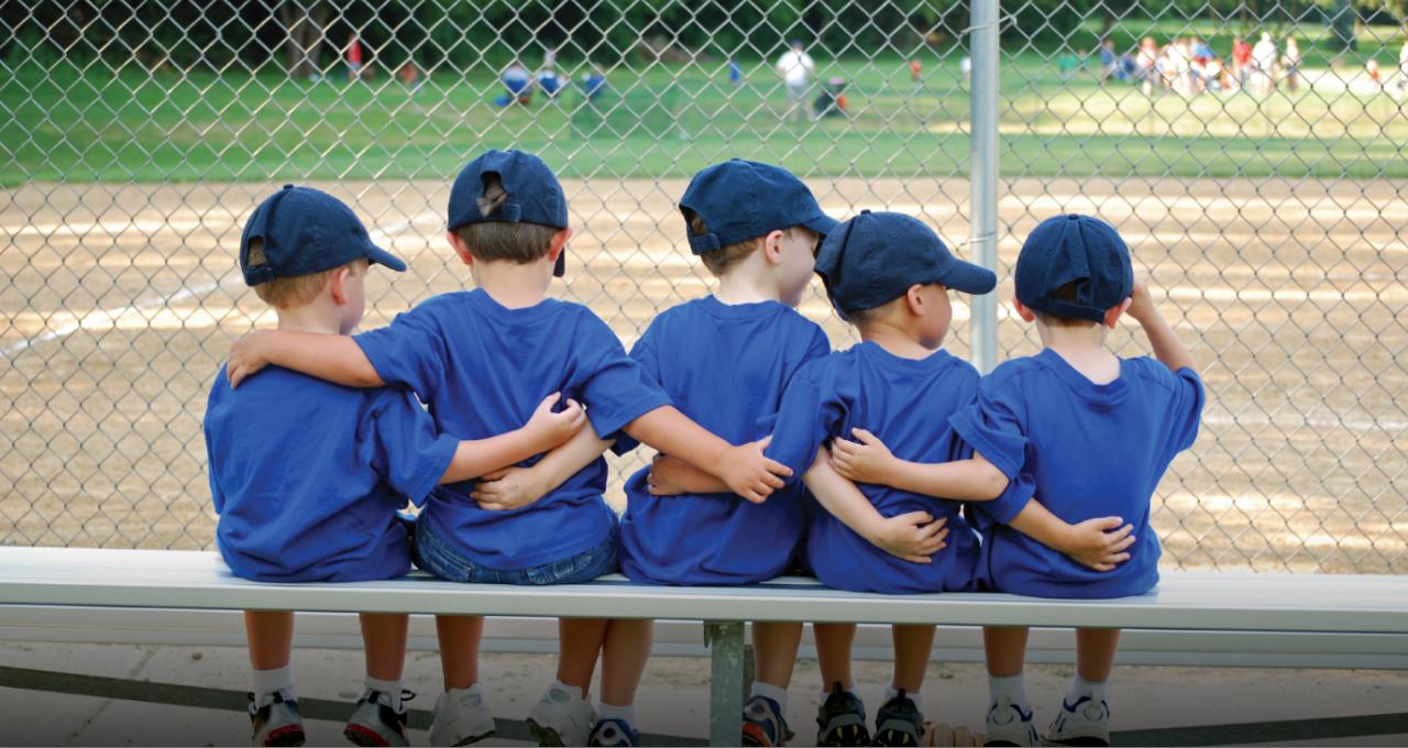 Children Watching Baseball